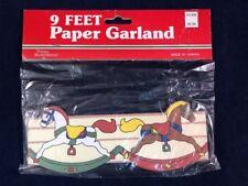 Vintage Hobby Rocking Horse 9' Paper Garland Taiwan Things Remembered NIB