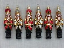 Chistmas ornaments The Nutcracker GLASS ornaments hand made and decorated