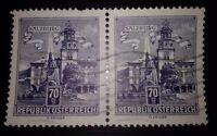 2 FRANCOBOLLI - AUSTRIA - REPUBLIK OSTERREICH 70 - SALZBURG - USATO