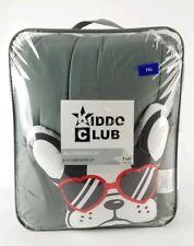 "Kiddo Club Grey Comforter Set 78""x 86"" Full 4 Piece French Bulldog Pillow New"
