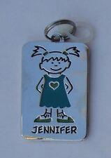 Jennifer NAME CHARM dog tag pendant zipper pull key chain flair