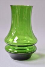 Modern Botanical Green Flower Posy Round Glass Vase 17cm Tall
