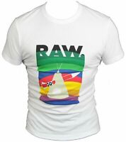 New G-Star Raw Mens T-Shirt Round Neck in White Colour Size S