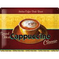 Vintage Deko Cafè Kaffee Coffee Cappuccino  Eiscafè Schild Blech poster *571