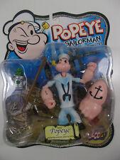 "Mezco Popeye Series 2 White Sailor dress Popeye 5"" Action Figure Moc, 2001"