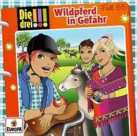 DIE DREI !!! - FALL 55: WILDPFERD IN GEFAHR   CD NEU