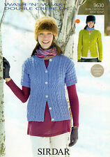 """~ Sirdar Knitting Pattern For Lady's Cabled Cardigans ~ 32"""" ~ 54"""" ~"""