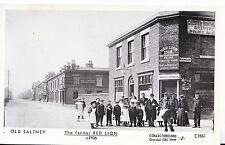 Cheshire Postcard - Old Saltney - The Former Red Lion c1906 - Pamlin Prints J822