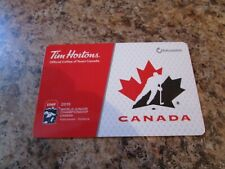 2019 IIHF TEAM CANADA TIM HORTONS TIM CARD ZERO DOLLARS RELOADABLE