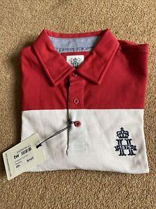 Hurlingham Polo 1875 Three Colour size Small Polo Shirt RRP £85!!