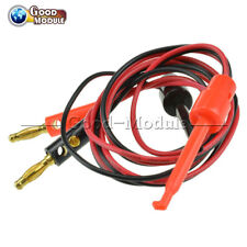 1 Pair Small Test Hook Clip to Banana Plug for Multimeter Test Lead Cable GM