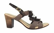 Damen-Sandalen & -Badeschuhe mit Kleiner Trichter-Absatzart im Knöchel-/Fesselriemen-Stil aus Echtleder