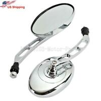 Chrome Motorcycle Rearview Mirrors For Honda VT VTX 1300 1800 C R S N F T Retro