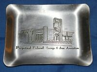 Perpetual Federal Savings & Loan Association Advertising Ashtray