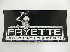 FRYETTE ELECTRIC GUITAR AMPLIFIER DECAL STICKER CASE BUMPER STICKER SKELETON NEW