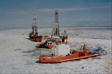 metal sign 795086 icebreaker clearing path for drilling ships beaufort sea a4 12