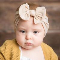Toddler Baby Bow Knot Turban Headband Nylon Hair Band Headwrap Headwear 4 Color