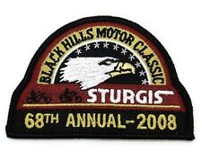 OFFICIAL STURGIS RALLY LOGO PATCH 2008 68TH ANNUAL