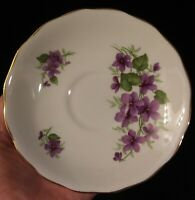 Royal Vale Bone China Saucer Made in England Ridgway Potteries Ltd. Violets