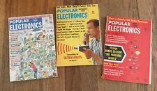3 Vintage Popular Electronics Magazines May 1964, May 1960 & September 1964
