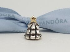 Authentic Silver & 14k Gold Pandora Christmas Tree Two Tone Charm 790365