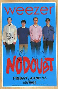 Weezer autographed gig poster Matt Sharp, Rivers Cuomo, Patrick Wilson, Brian