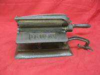 Antique Cast Iron and Brass1800's Union Fluting/Pleater/Crimper Sad Iron Fluter