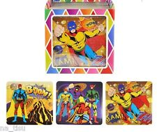 12 SUPERHERO JIGSAW PUZZLE Party Bags Filler GOODY gift child kids reward