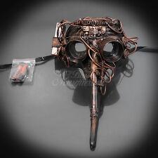 Steampunk Plague Doctor Theater Masquerade Mask for Men - Metallic Copper