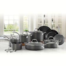 Mark Member Cookware Set S Hard Anodized 15 Piece Nonstick Pan Pots