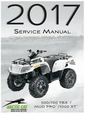 2017 Arctic Cat ATV 500 / 700 / 1000 TBX Mud Pro XT service manual in binder