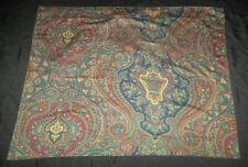 Ralph Lauren STD Pillow Sham Pair Westheath Hampsted Paisley Green Red Gold Blue