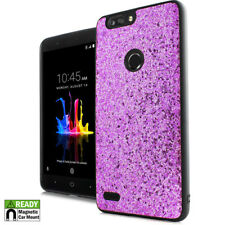 For ZTE SEQUOIA / BLADE Z MAX Z982 Pink Glitter Magnetic Back Hybrid Case Cover