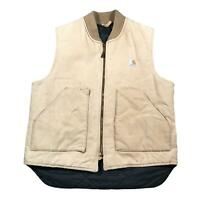 CARHARTT Mens Sleeveless Jacket Vest Large | Arctic Quilt Made In USA Vintage