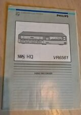 PHILIPS VR6561 Video Instruction Book Manual