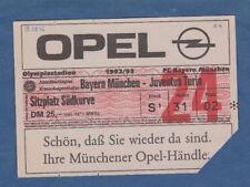 Orig.Ticket  08.08.1992  BAYERN MÜNCHEN - JUVENTUS TURIN / Augenthaler Abschied.
