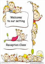 Welcome to our setting, A4 poster for nursery childminder school SEN