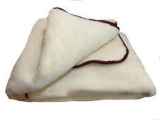 Blanket from sheep's 100 % wool (150-210 cm), Рlaid +GIFT