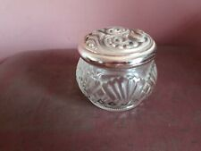 Vintage collectable Avon glass pot with lid