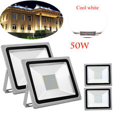 4X 50W LED Floodlight  Outside Wall Light Security Flood Lights IP65 Cool white