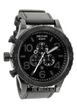 NIXON NEW genuine A124-001 A124001 Watch Mens 51-30 CHRONO Leather All Black