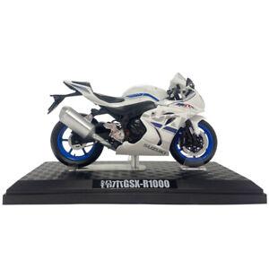 1:12 Scale Suzuki GSX-R1000 Motorcycle Model Diecast Sport Bike Collection White