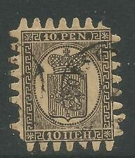 Finland 1866-74 Coat of Arms 10p black on yellow (8) used
