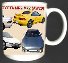 TOYOTA MR2 MK2 W20 CLASSIC CAR MUG. LIMITED EDITION. PERSONALISE FREE OF CHARGE