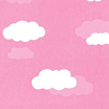 """SOFT COTTON RARE NOCTILUCENCE KIDS BABY FABRIC BEDDING WALL PANEL PINK CLOUD 44"""""""
