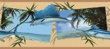 """""""SAILFISH/OCEAN VIEWS""""-BORDER-9""""HIGH-$9.00 PER ROLL-FREE S&H"""