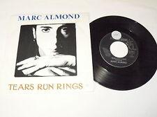 "MARC ALMOND ""TEARS RUN RINGS"" disco 45 giri PARLOPHONE Italy 1988 Soft Cell"