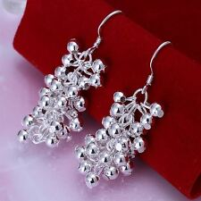 beautiful Fashion cute LADY Silver Plated Women pretty beads charm Earring NEW