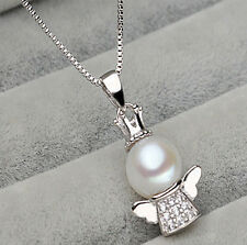 Fashion Cute Lovely Jewelry Angel Baby Pearl Pendant Nice Necklace gift