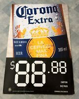 Vintage Original Corona Extra Beer Corflute Advertising Display Sign